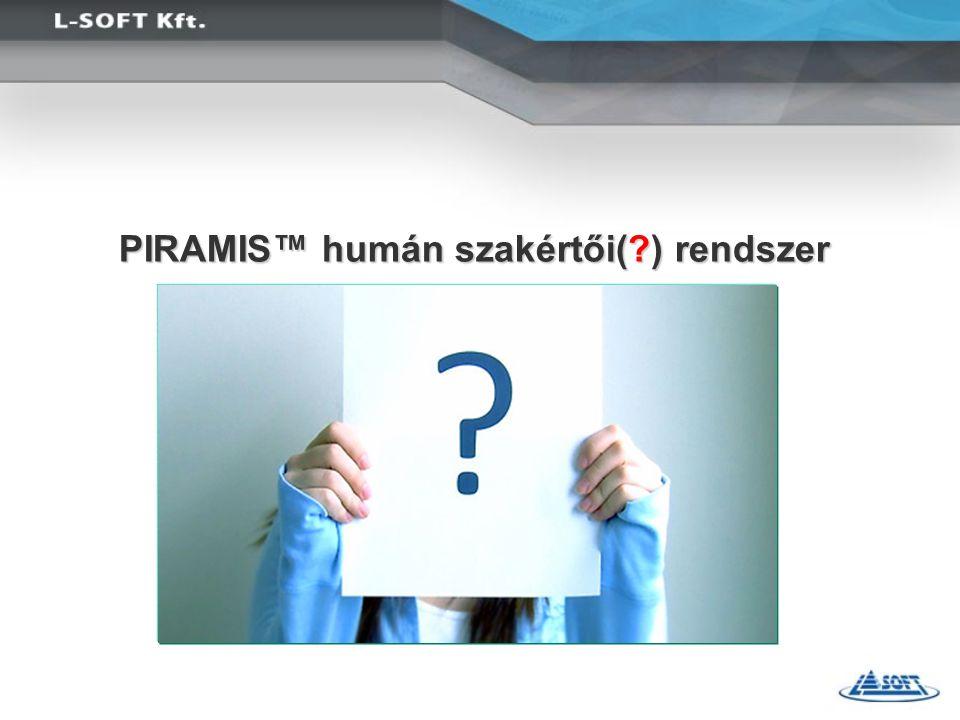 PIRAMIS™ humán szakértői( ) rendszer