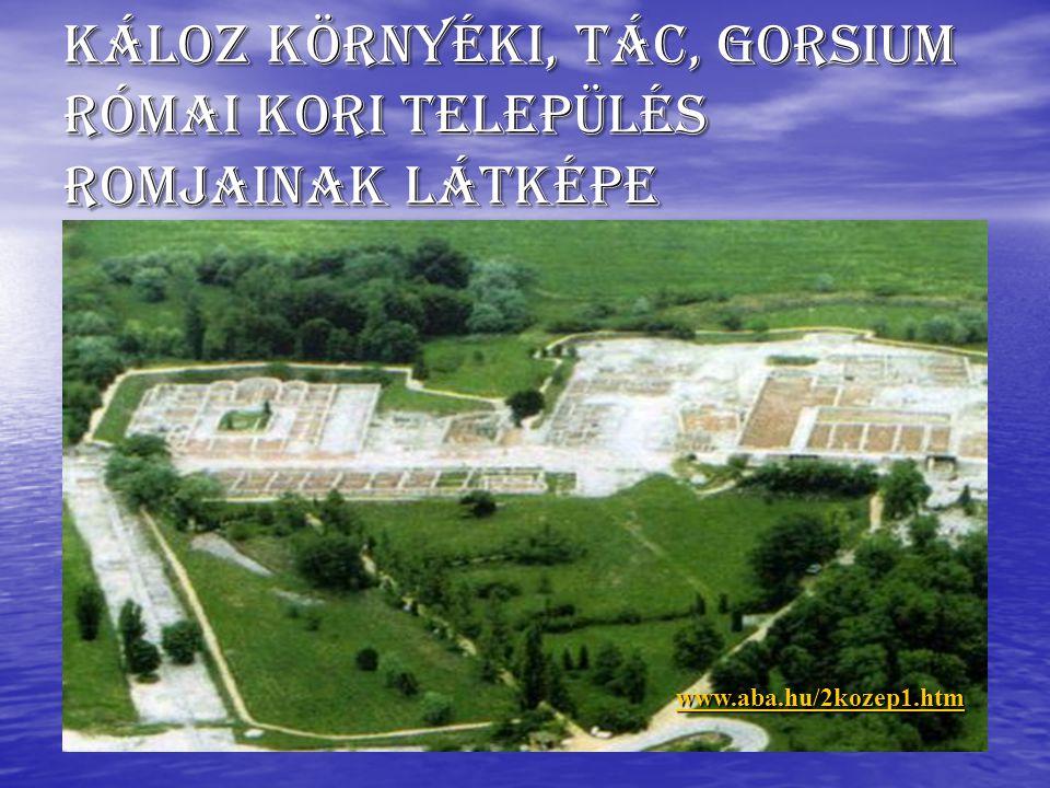 Káloz környéki, Tác, Gorsium római kori település romjainak látképe