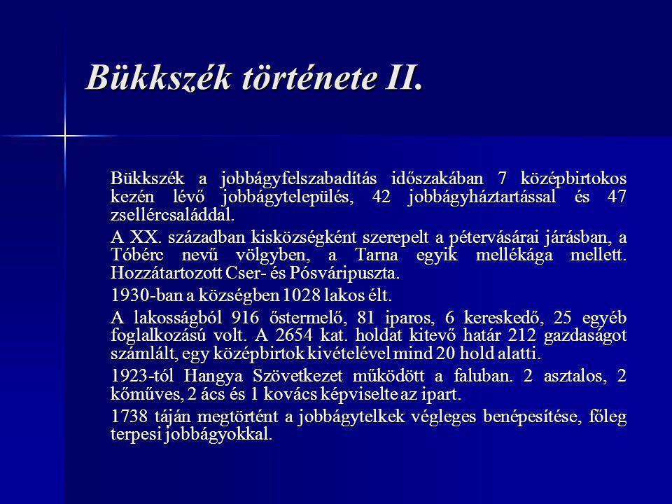 Bükkszék története II.