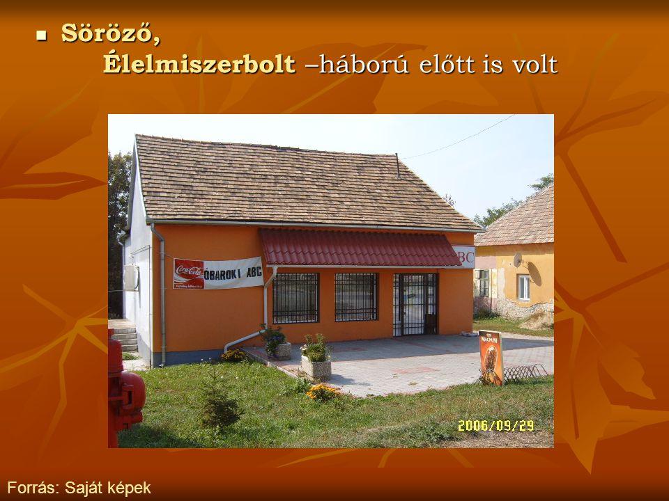 Élelmiszerbolt –háború előtt is volt