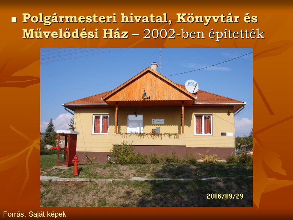 Polgármesteri hivatal, Könyvtár és Művelődési Ház – 2002-ben építették