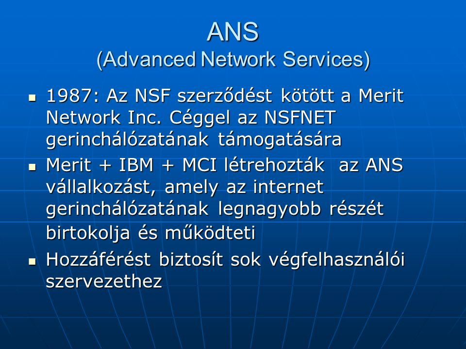 ANS (Advanced Network Services)