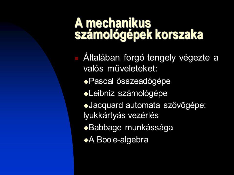 A mechanikus számológépek korszaka