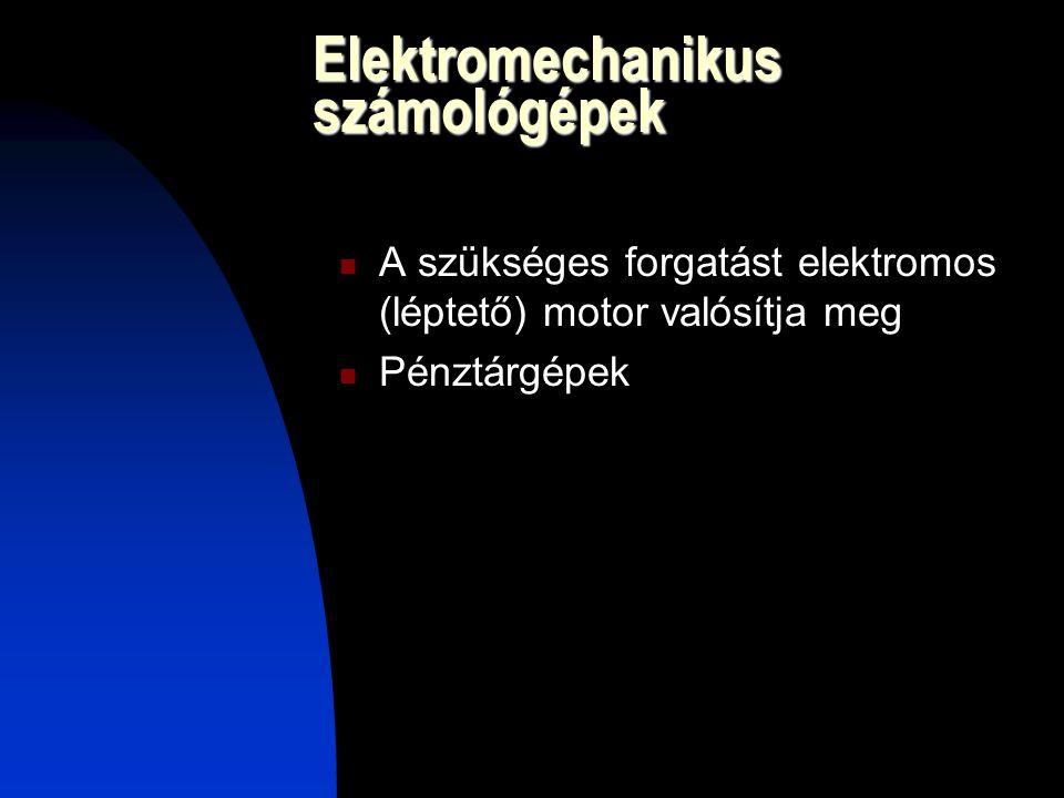 Elektromechanikus számológépek