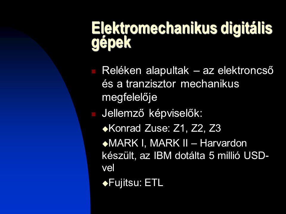 Elektromechanikus digitális gépek