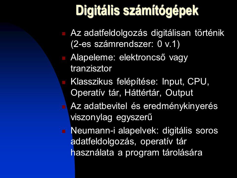 Digitális számítógépek