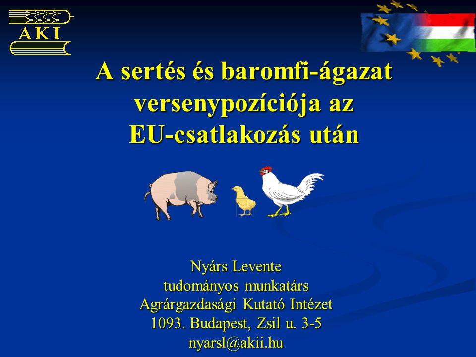 A sertés és baromfi-ágazat versenypozíciója az EU-csatlakozás után