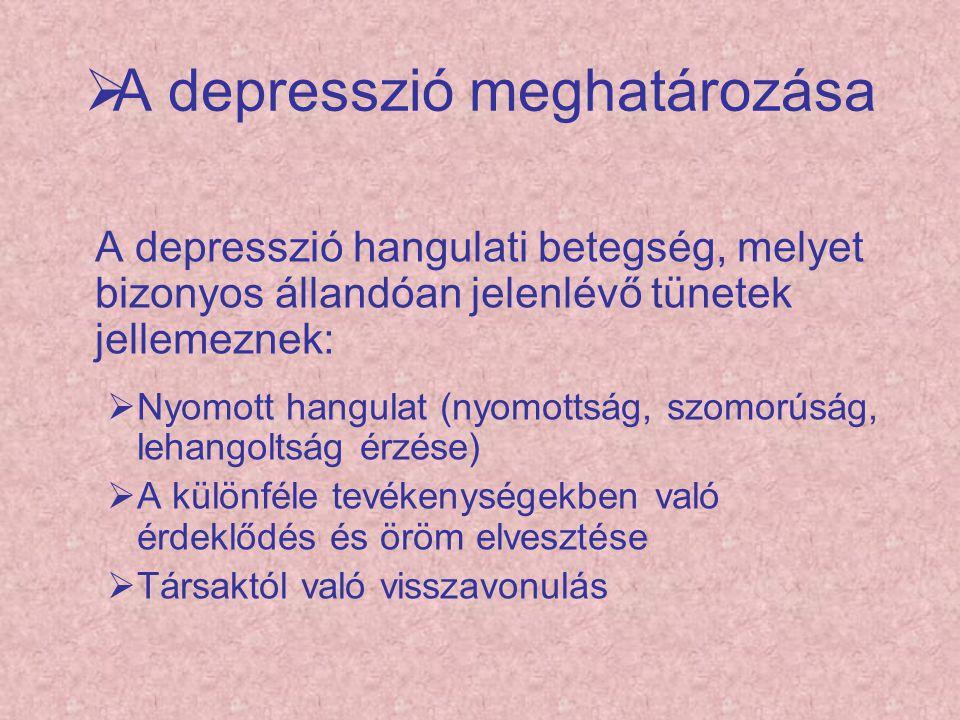 A depresszió meghatározása