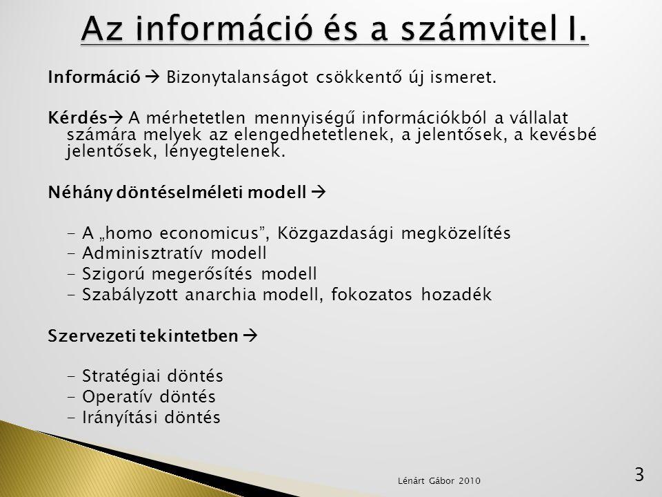 Az információ és a számvitel I.