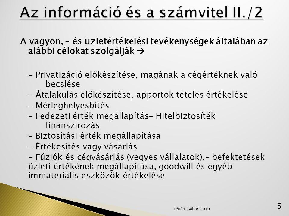 Az információ és a számvitel II./2
