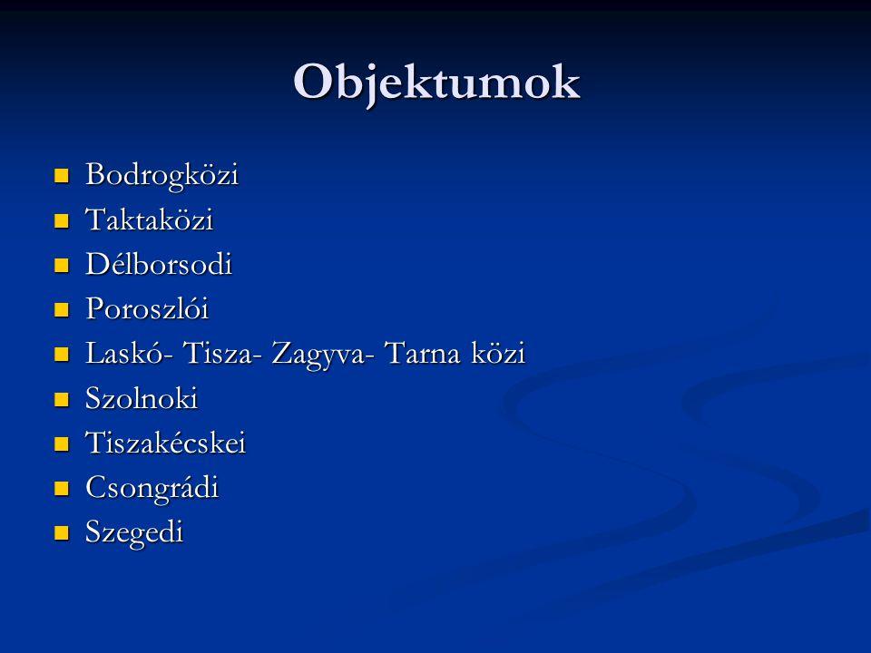 Objektumok Bodrogközi Taktaközi Délborsodi Poroszlói
