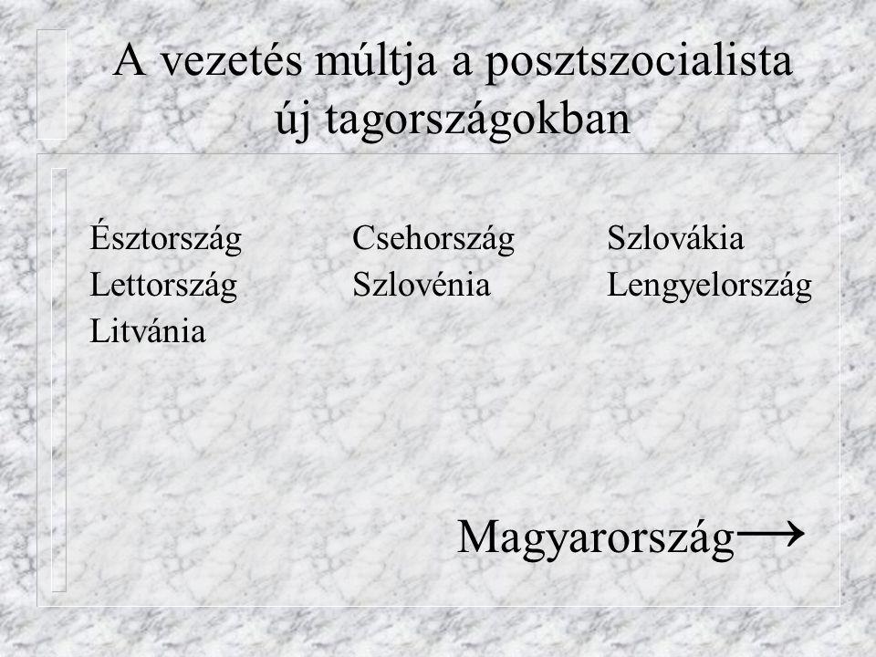 A vezetés múltja a posztszocialista új tagországokban