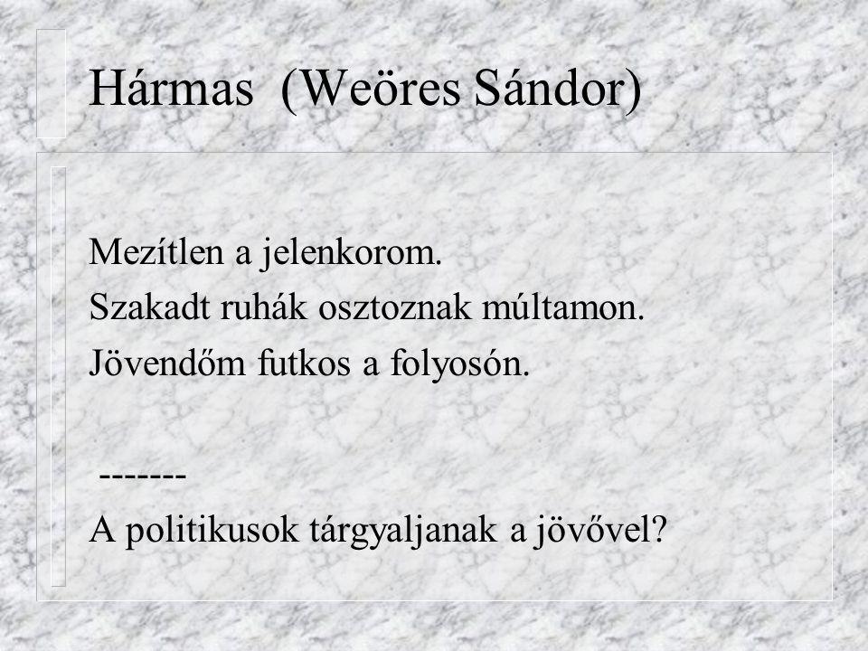 Hármas (Weöres Sándor)