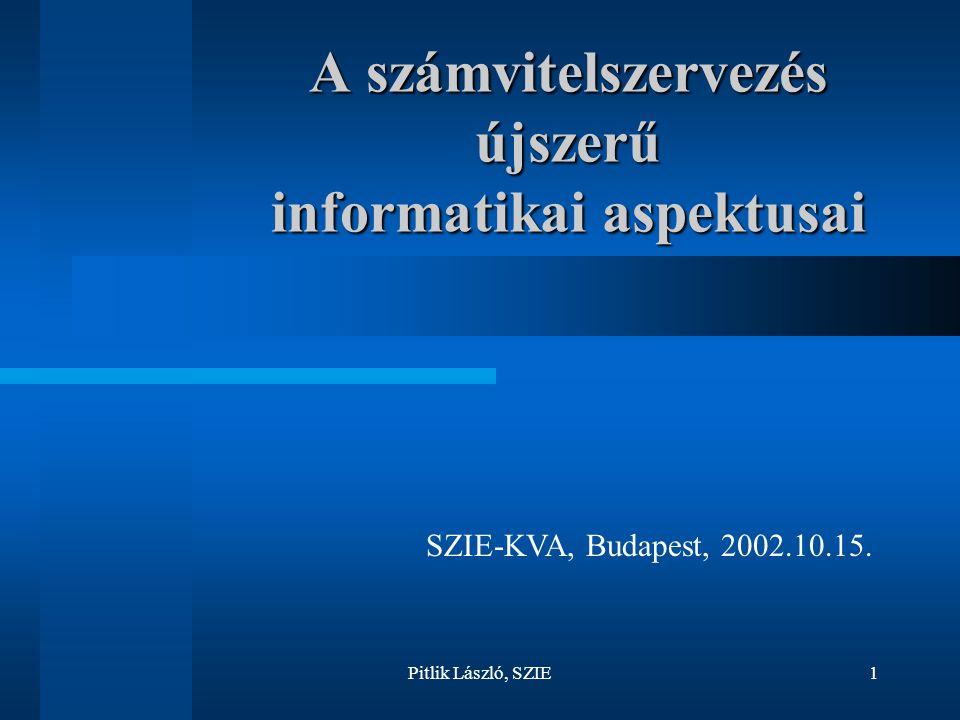 A számvitelszervezés újszerű informatikai aspektusai