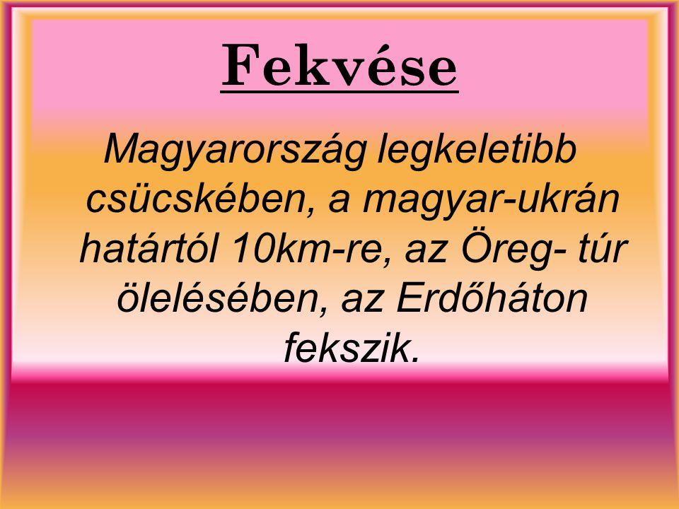 Fekvése Magyarország legkeletibb csücskében, a magyar-ukrán határtól 10km-re, az Öreg- túr ölelésében, az Erdőháton fekszik.