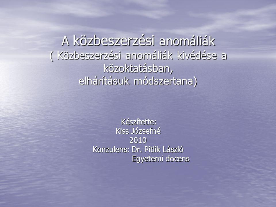 Konzulens: Dr. Pitlik László