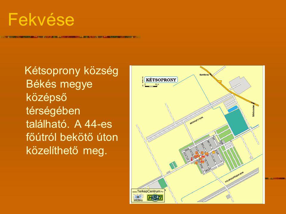 Fekvése Kétsoprony község Békés megye középső térségében található.