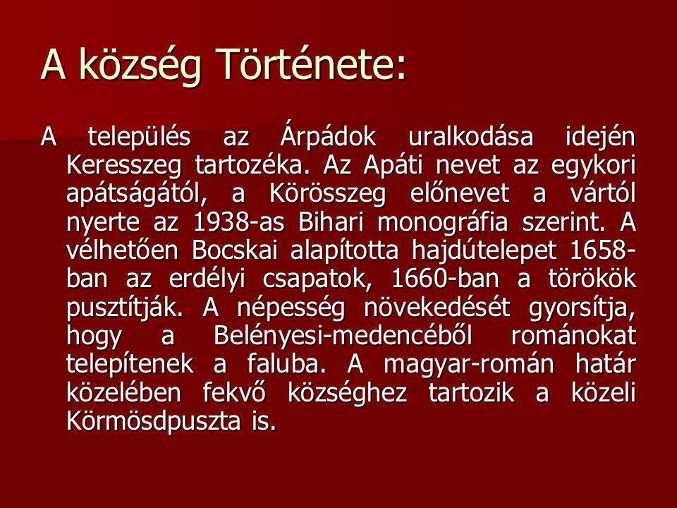 A község Története: