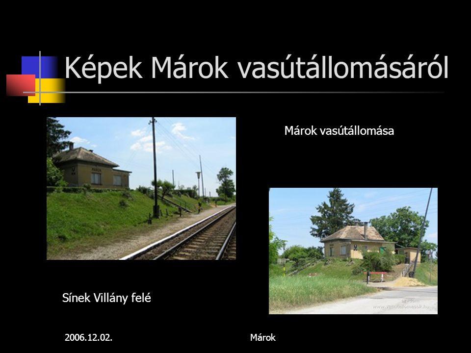 Képek Márok vasútállomásáról