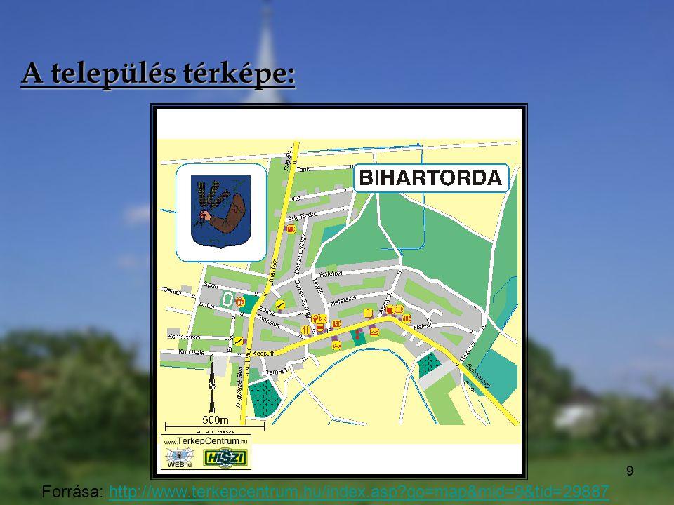 A település térképe: Forrása: http://www.terkepcentrum.hu/index.asp go=map&mid=9&tid=29887