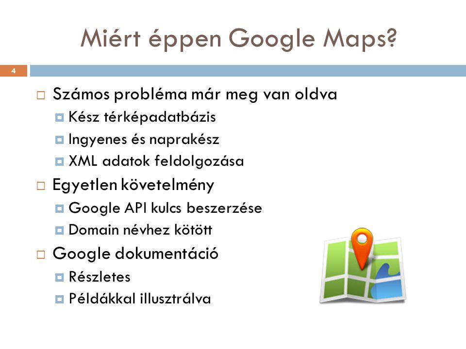 Miért éppen Google Maps