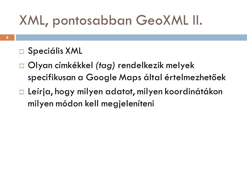 XML, pontosabban GeoXML II.