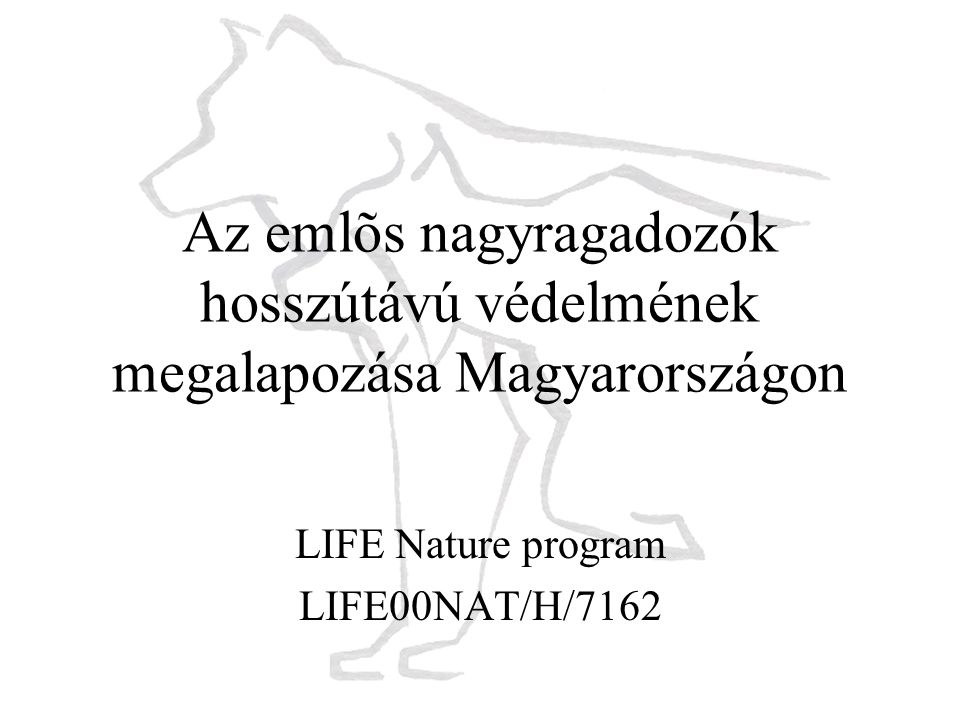 LIFE Nature program LIFE00NAT/H/7162
