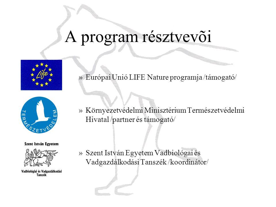 A program résztvevõi Európai Unió LIFE Nature programja /támogató/