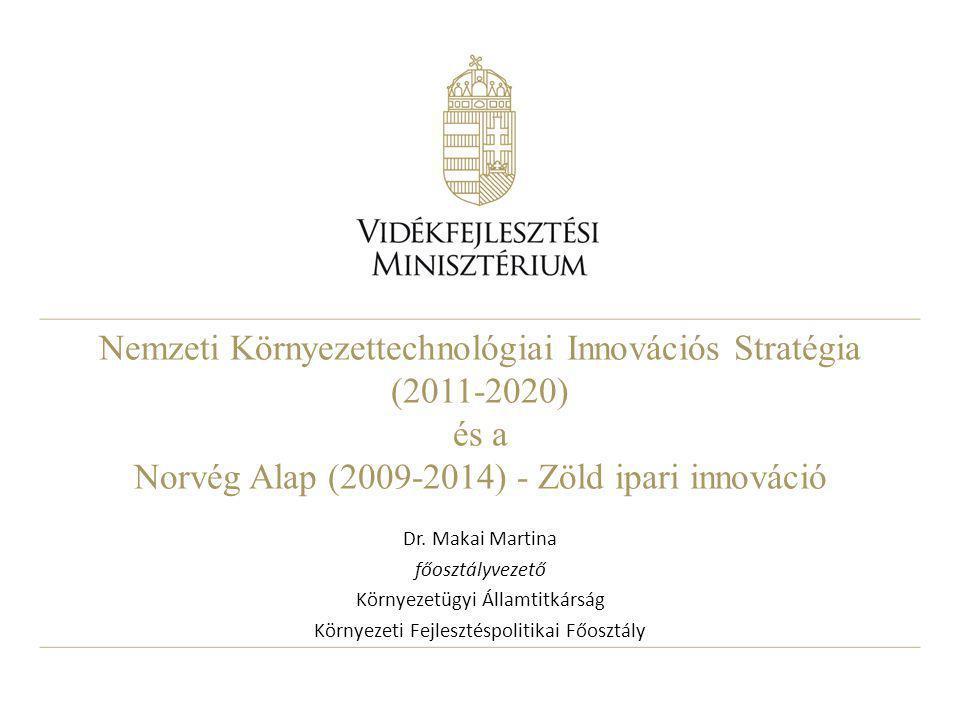 Nemzeti Környezettechnológiai Innovációs Stratégia (2011-2020) és a Norvég Alap (2009-2014) - Zöld ipari innováció