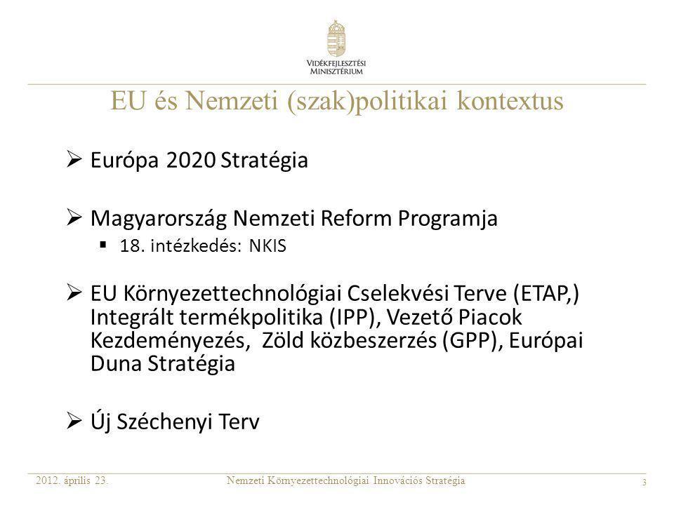 EU és Nemzeti (szak)politikai kontextus