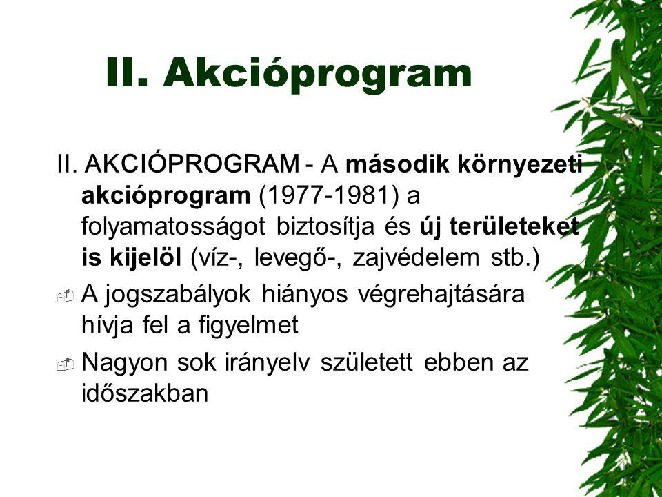 II. Akcióprogram