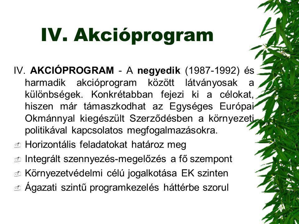 IV. Akcióprogram