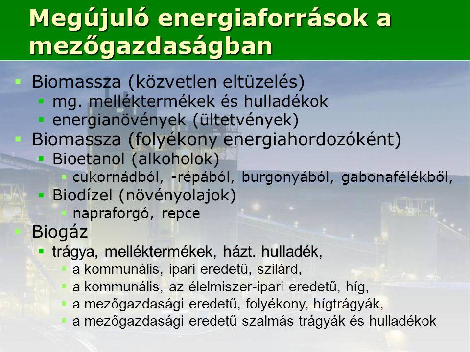 Megújuló energiaforrások a mezőgazdaságban