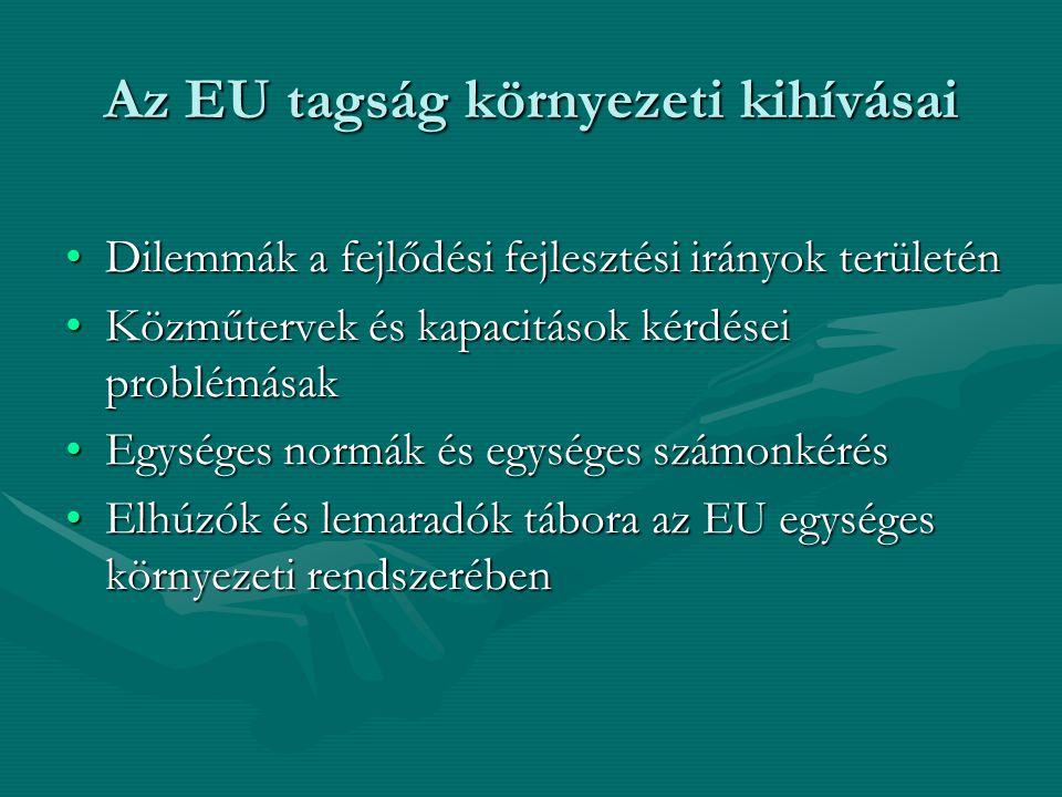 Az EU tagság környezeti kihívásai