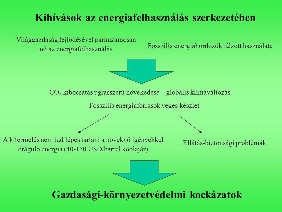 Kihívások az energiafelhasználás szerkezetében