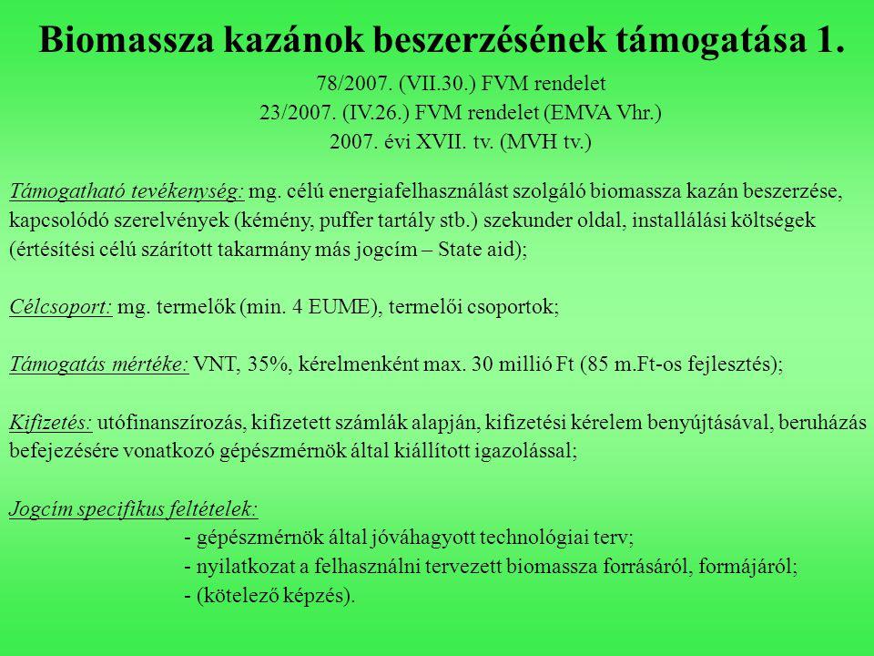 23/2007. (IV.26.) FVM rendelet (EMVA Vhr.)