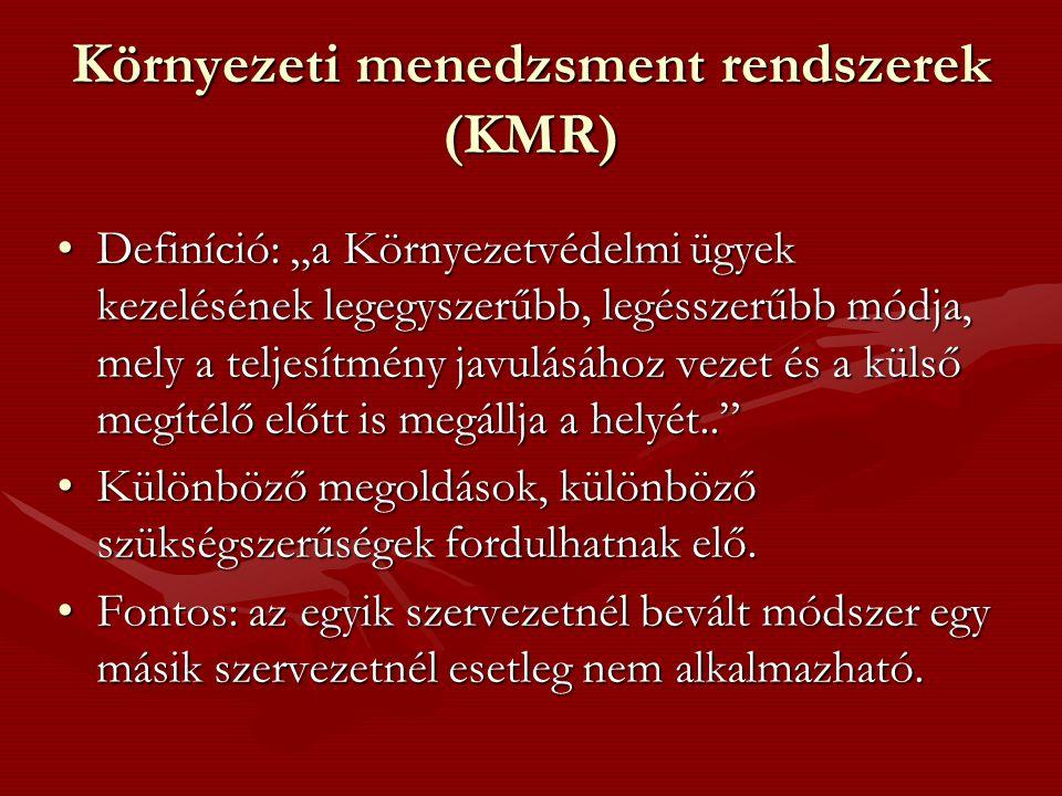 Környezeti menedzsment rendszerek (KMR)