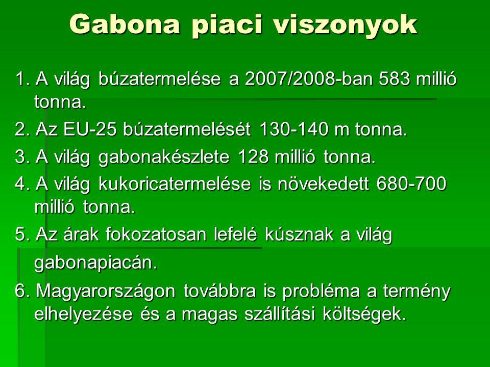 Gabona piaci viszonyok