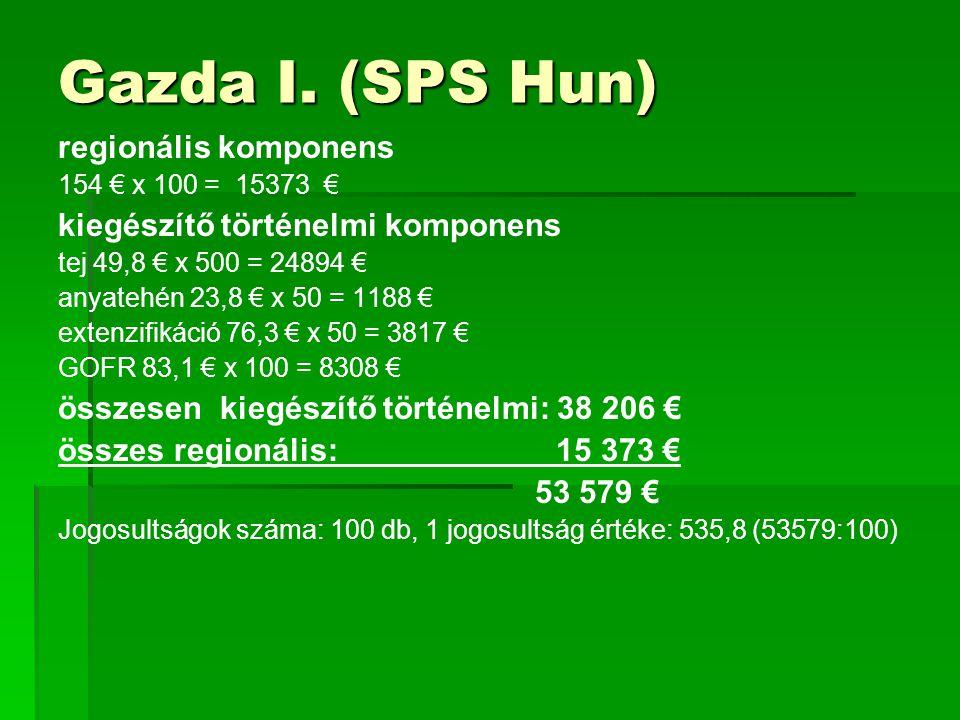 Gazda I. (SPS Hun) regionális komponens