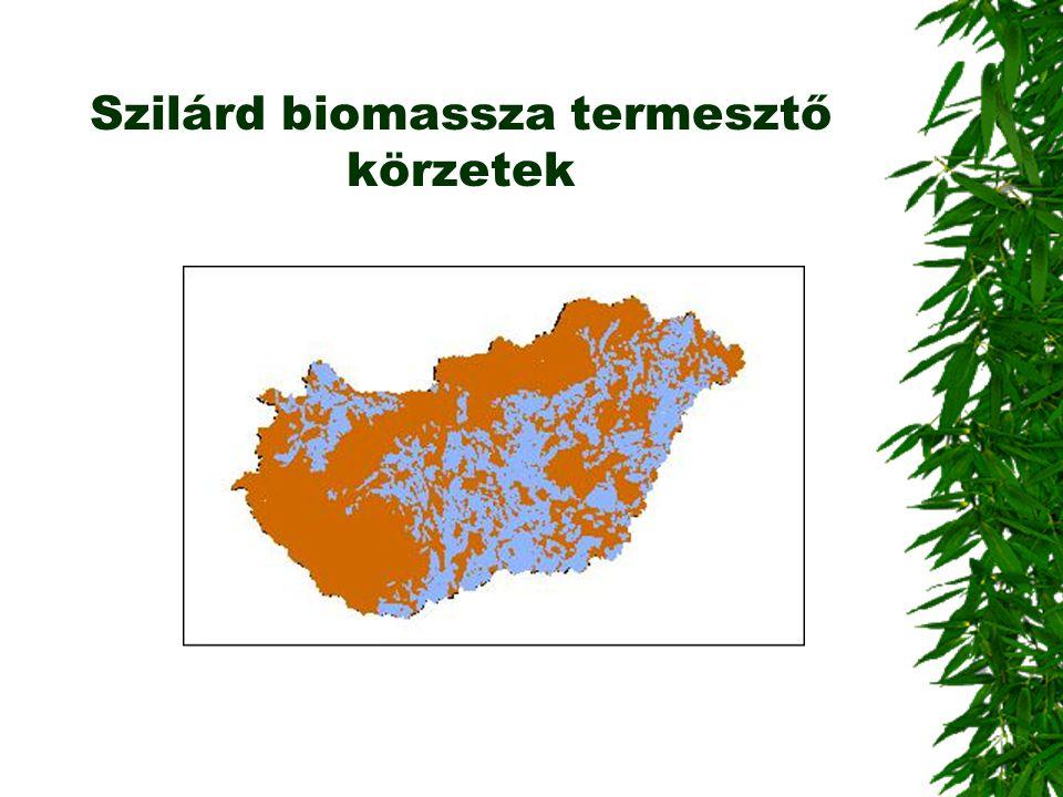 Szilárd biomassza termesztő körzetek