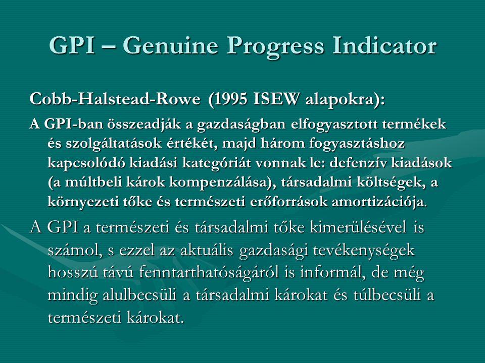 GPI – Genuine Progress Indicator