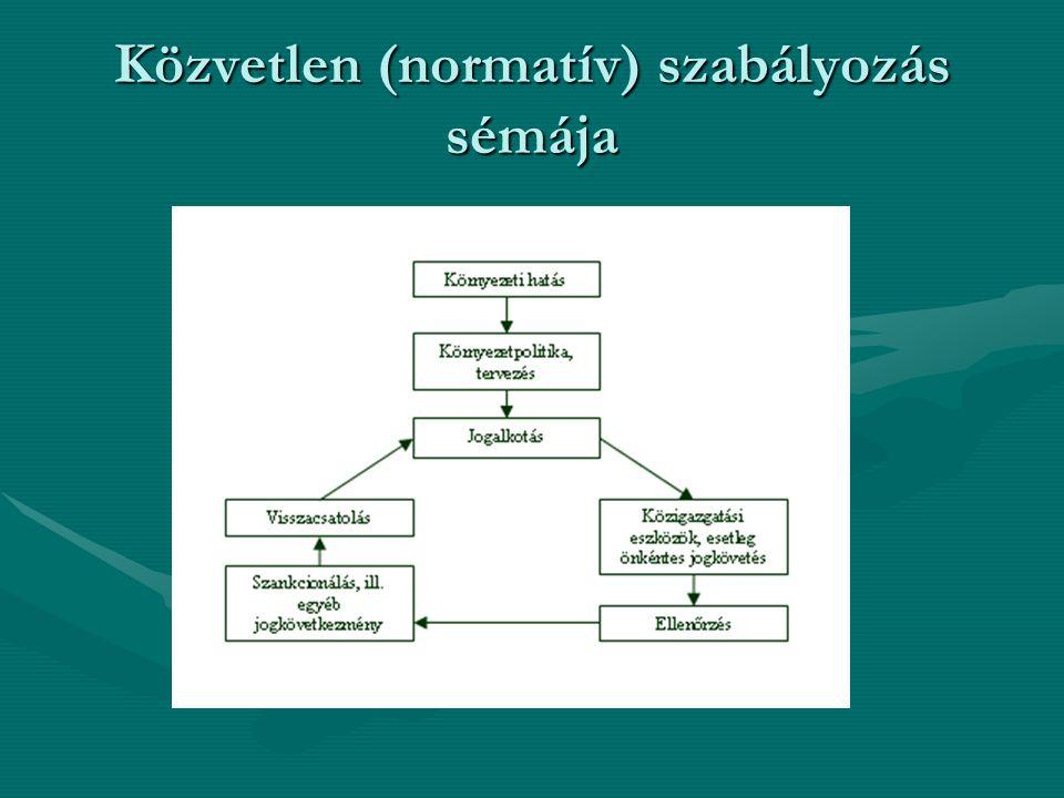 Közvetlen (normatív) szabályozás sémája