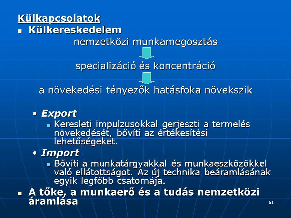 nemzetközi munkamegosztás specializáció és koncentráció