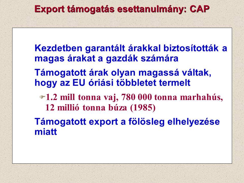 Export támogatás esettanulmány: CAP