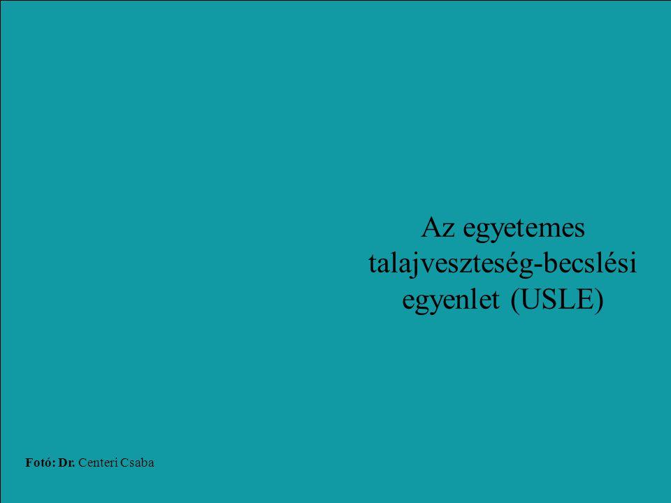 Az egyetemes talajveszteség-becslési egyenlet (USLE)