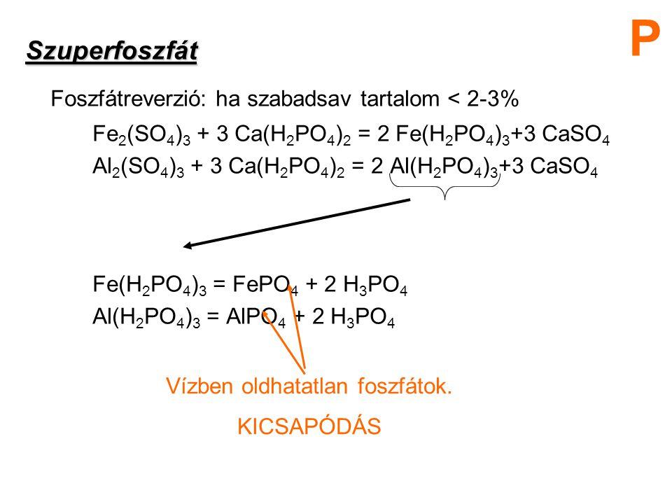 Vízben oldhatatlan foszfátok.