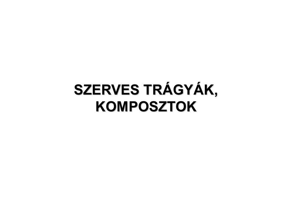 SZERVES TRÁGYÁK, KOMPOSZTOK