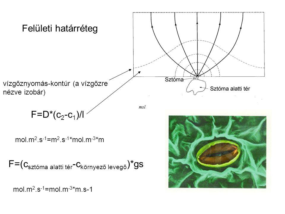 F=(csztóma alatti tér-ckörnyező levegő)*gs
