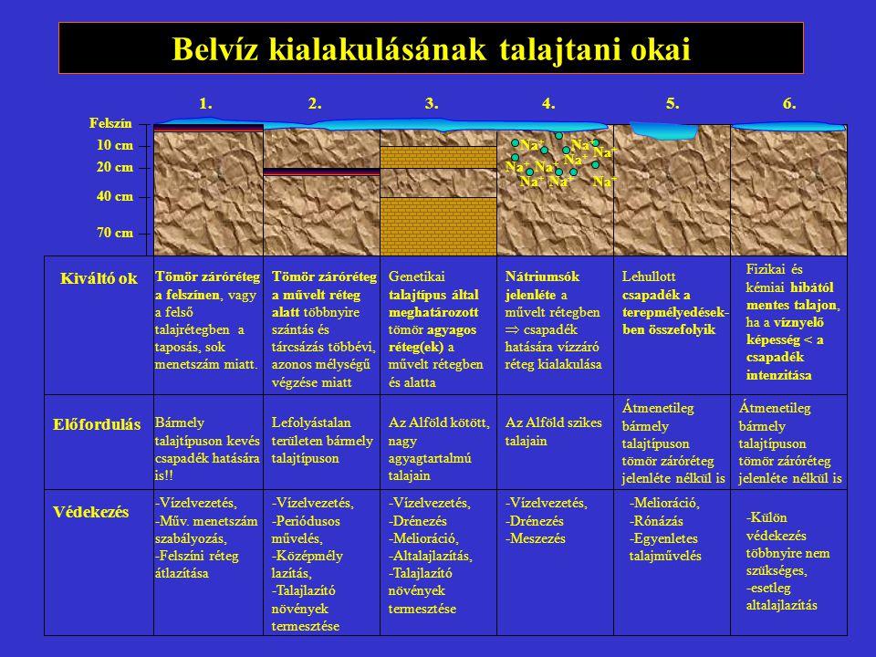 Belvíz kialakulásának talajtani okai