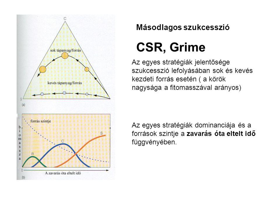CSR, Grime Másodlagos szukcesszió